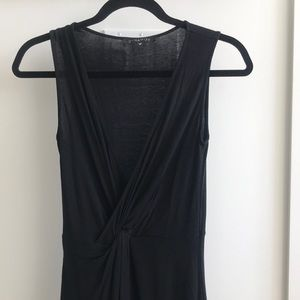 Dynamite - black dress with front knot